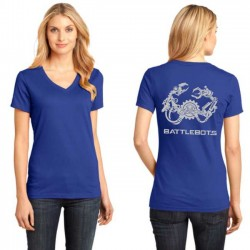 2018 Ladies Metallic V-Neck (Royal Blue)