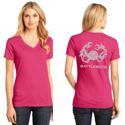 2018 Ladies Metallic V-Neck (Pink)
