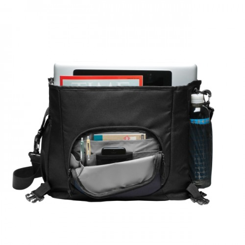 Logo Messenger Bag - Grey