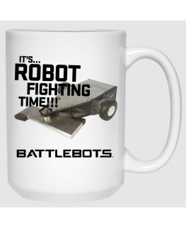 It's Robot Fighting Time™ - Tombstone (15 oz Mug)