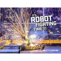 It's Robot Fighting Time™ - Action Poster #2