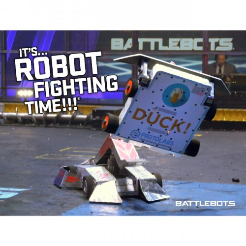 It's Robot Fighting Time™ - Action Poster #3